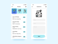 Daily UI Challenge - #027 Dropdown & #028 Contact Us