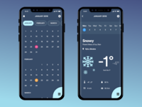Daily UI Challenge - #037 Weather & #038 Calendar