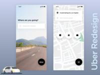 Uber Redesign Challenge for Uplabs Challenge