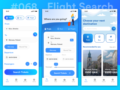 Daily UI Challenge - #068 Flight Search
