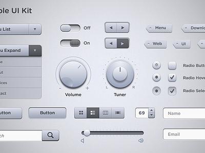 Marble UI Kit marble sketch sketchapp ui kit free web interface ui search volume menu toggle button radio tag switch drop down