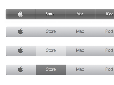 Apple Navigation Bar apple website navigation ui menu flat sketchapp