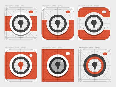 App icon app icon ios 7 flat camera iphone photo secure private privacy share album