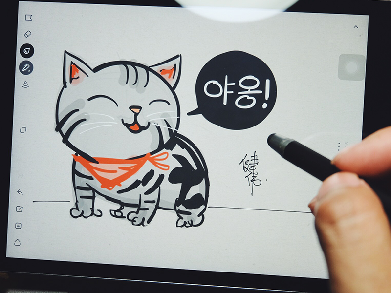 American Shorthair Cat american shorthair meow ipad bamboo paper wacom sketch cat