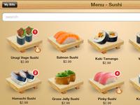 iPad Sushi Menu