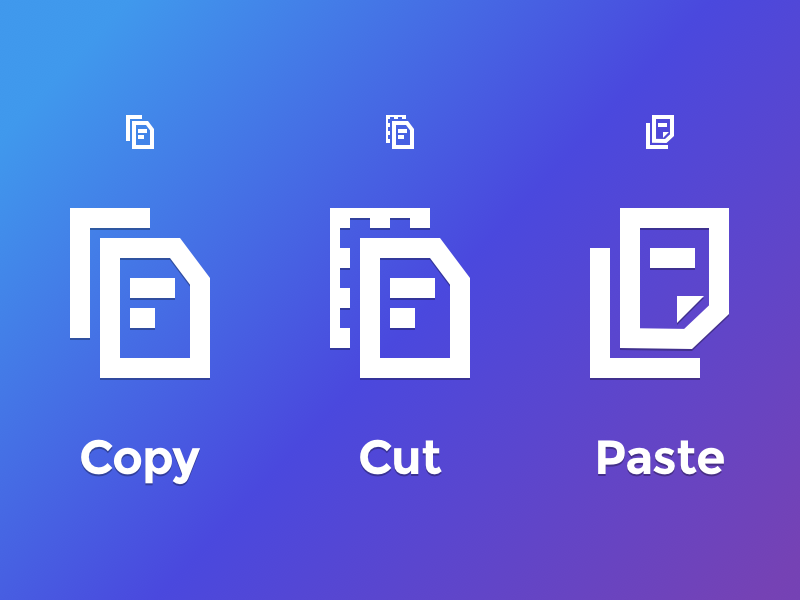 Copy Cut Paste svg editor icon icons paste cut copy