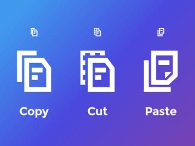 Copy Cut Paste svg editor icon icons paste cut copy