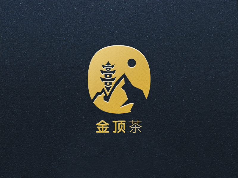 Gold Summit Branding packaging pagoda temple mountain chinese tea logo branding