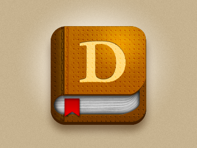 Dictionary dictionary iphone icon web app
