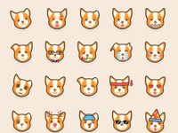 Corgi sticker pack