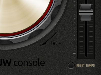 DJ Console - close up dj console pioneer chrome level ui