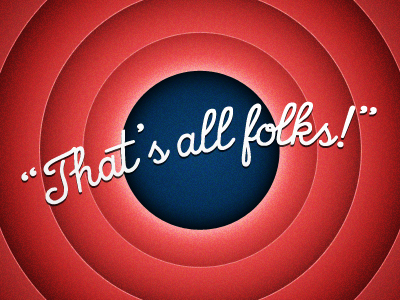 That's all folks! cartoon thats all folks looney tunes outro outro wallpaper