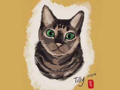 Digital Painting Cat
