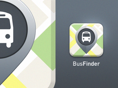 Bus Finder app icon bus map icon iphone bus finder location directory