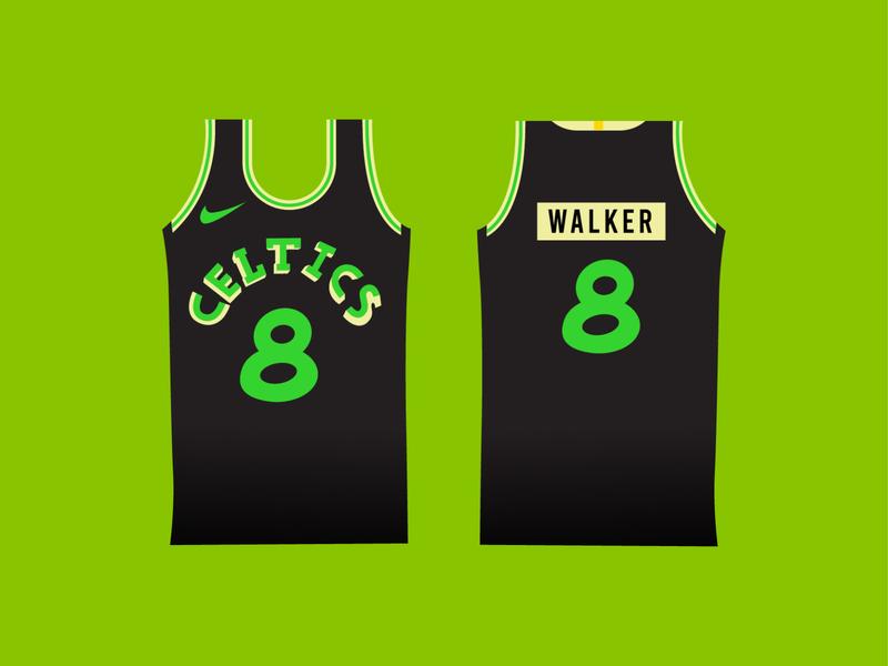 Celtics Alternate Black Unis