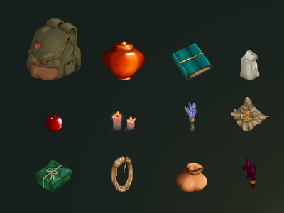 Items concept art illustration