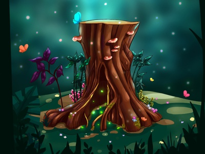 Fantasy tree drawing storytelling painting fantasy art digital painting environment art fantasy illustration concept art