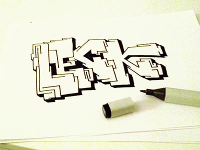 Leck graffiti sketch tusch marker draw
