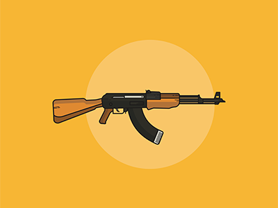 Ak47 tor dropcap design graphic graphics logo illustration vectorart vector