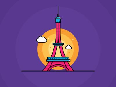 Eiffel Tower illustration