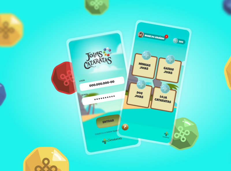 Joias Cataratas - Web App conecta game app design illustration ui