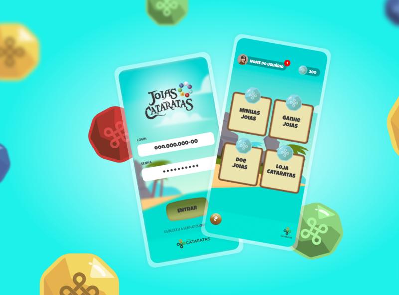 Joias Cataratas - Web App conecta game app design illustration ui
