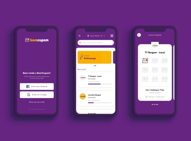 Bom Cupom - App Design bomcupom aplication ux redesign design app ui