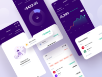 Financial App — Analytics bank credit budget figma search funds income analytics finance concept ux ui