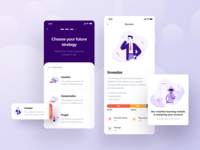 Financial App   Strategy investing finance figma uiux onboarding ui onboarding strategy bank