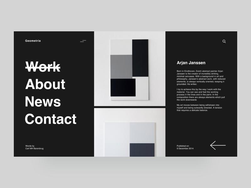 Geometria - art studio grid geometria ui ux black web minimalism gallery desktop art