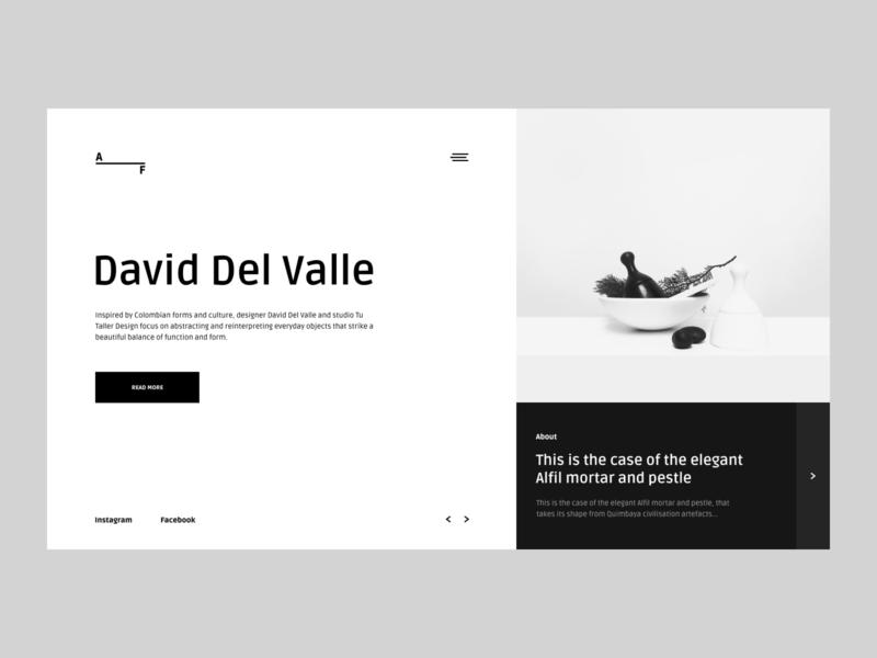 AF   Website typography grid desktop website black fashion clean design app minimal web figma concept ui ux