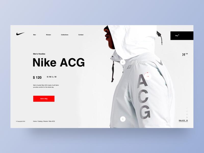 Nike - website e-commerce typography website grid desktop fashion black design clean app web minimal concept figma ux ui
