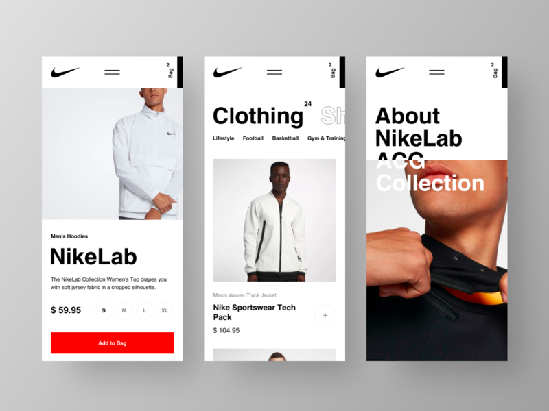 Nike Website Mobile mobile nike e-commerce website grid desktop fashion black design app web minimal figma concept ux ui