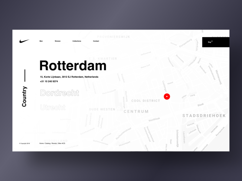 Nike - Contact ecommerce cinema artist typography e-commerce website grid desktop fashion black design clean app web minimal figma concept ux ui
