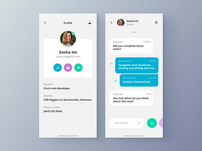 Chat - App settings profile chat app chat design clean app web minimal figma concept ux ui