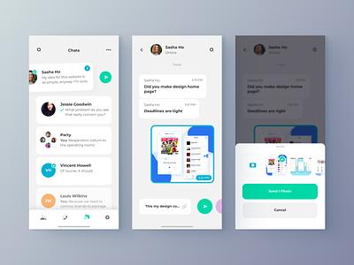 Chat-App attachment chat app chat design clean app web minimal figma concept ux ui