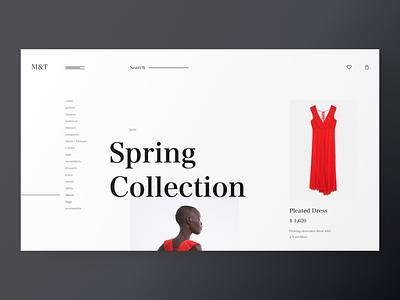 M&T Fashion - website chat cinema artist ecommerce typography e-commerce website grid desktop fashion black design clean app web minimal figma concept ux ui