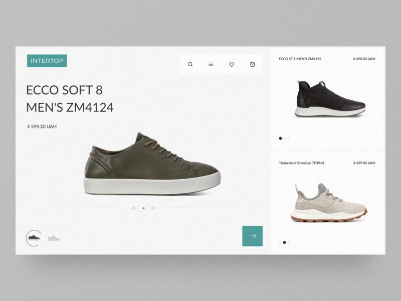 Intertop – Website Concept fashion shoes website grid ecommerce typography e-commerce design clean figma minimal desktop web concept ux ui