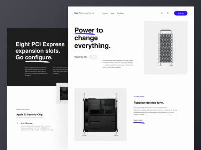 Mac Pro - Landing Page (Redesign Concept)