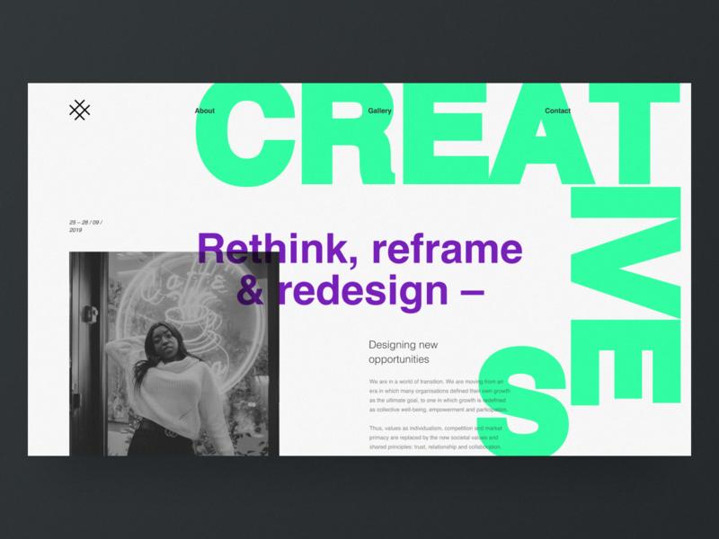 Service Design Days Website Concept typography website grid desktop black design clean web minimal figma concept ux ui