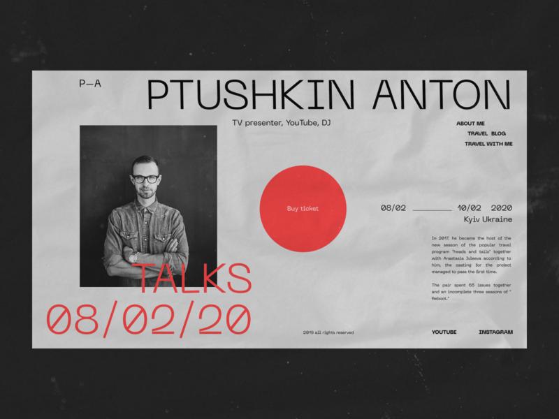 Anton Ptushkin   event fashion grid desktop black web minimal figma concept ux ui