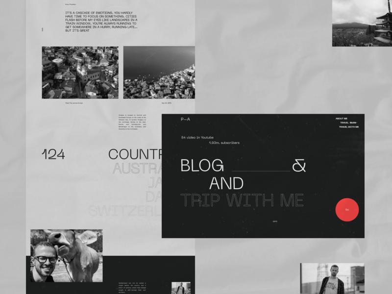 Anton Ptushkin - blog travel desktop design clean web minimal figma concept ux ui