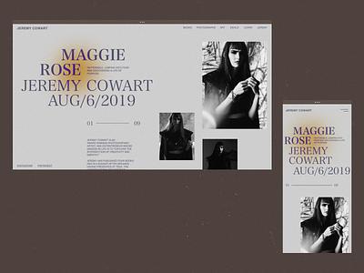 Jeremy Cowart - website concept photo concept e-commerce fashion grid desktop web minimal figma ux ui