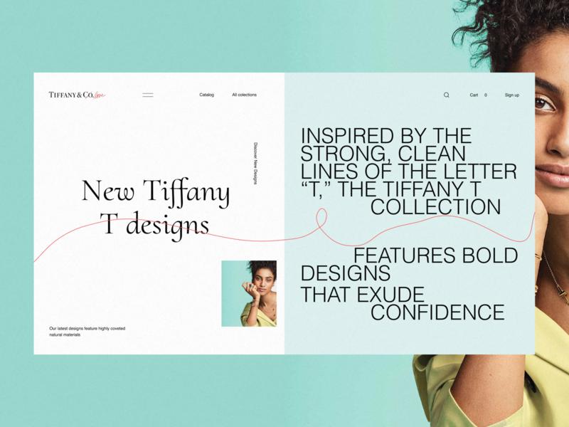Tiffany co - website, concept desktop minimal e-commerce fashion grid ux ui concept clean web tiffany