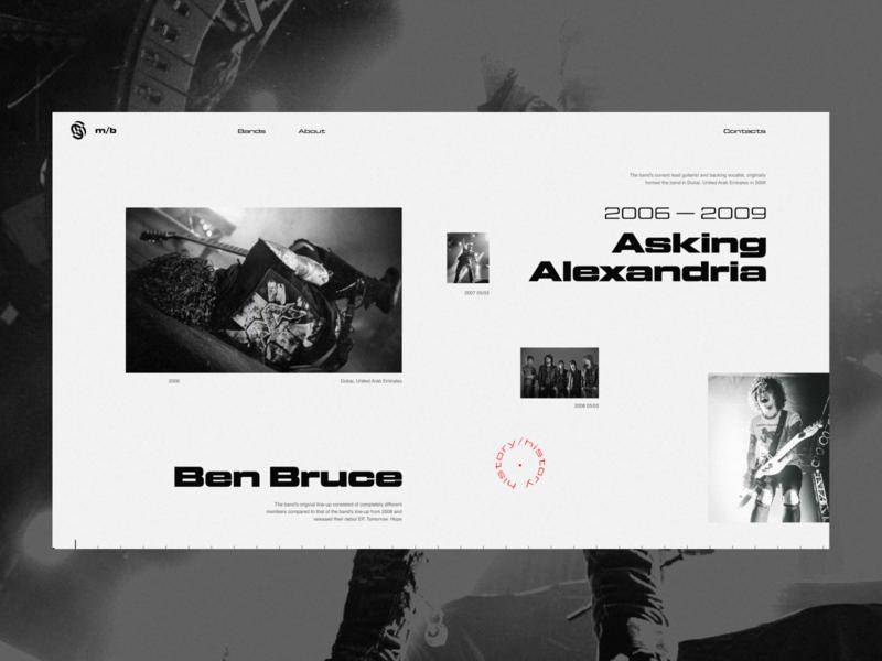 mb - website concept (asking aleksandria) grid desktop black clean web figma minimal concept ux ui