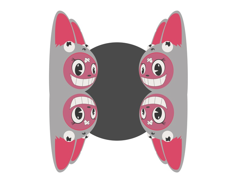 And Then Day 74 iteration iterate kawaii design challenge cartoon vector ar frooney totem pole