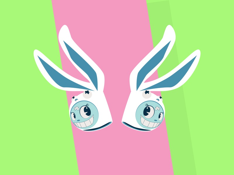 And Then Day 78 happy easter easter bunny easter cute kawaii vector frooney vector art design challenge cartoon character design cartooning illustration