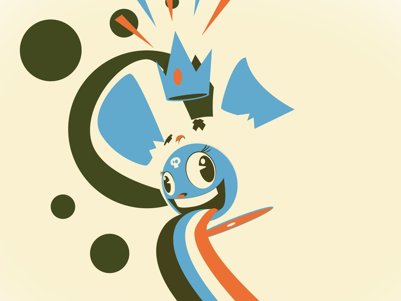 And Then Day 137 cute color theory negative space pop art frooney kawaii design challenge vector art cartooning character design illustration