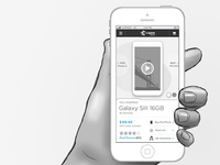 Mobile Web / App Product Page Wireframe