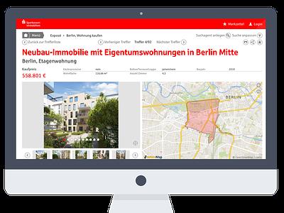 S-Immobilien web ux ui design 2016